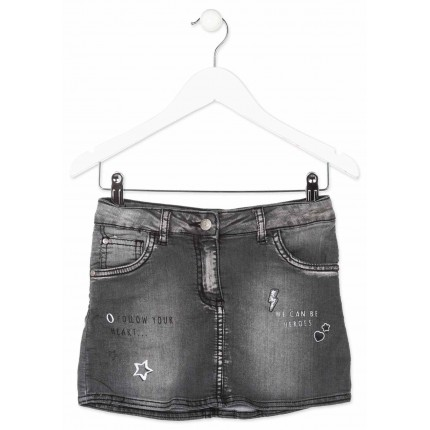 Mini Falda Denim Losan niña junior Rock lavada