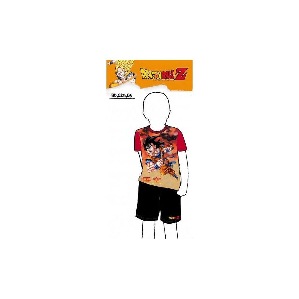 Pijama Dragon Ball Z niño manga corta Goku