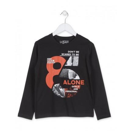 Camiseta Losan niño Alone junior manga larga