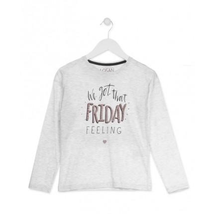 Camiseta Losan niña Friday junior manga larga