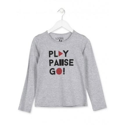 Camiseta Losan niña Play Pause Go! junior manga larga
