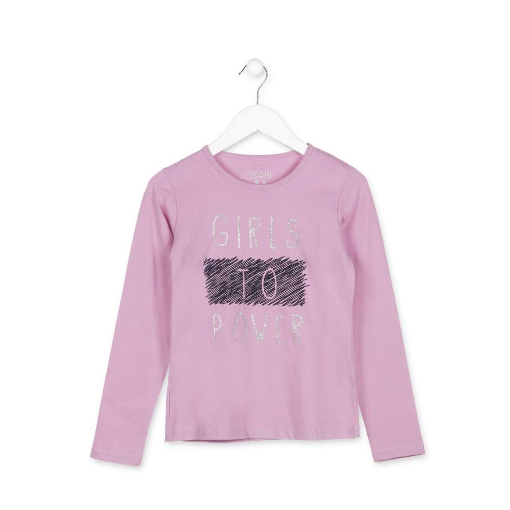Camiseta Losan niña Girls power junior manga larga