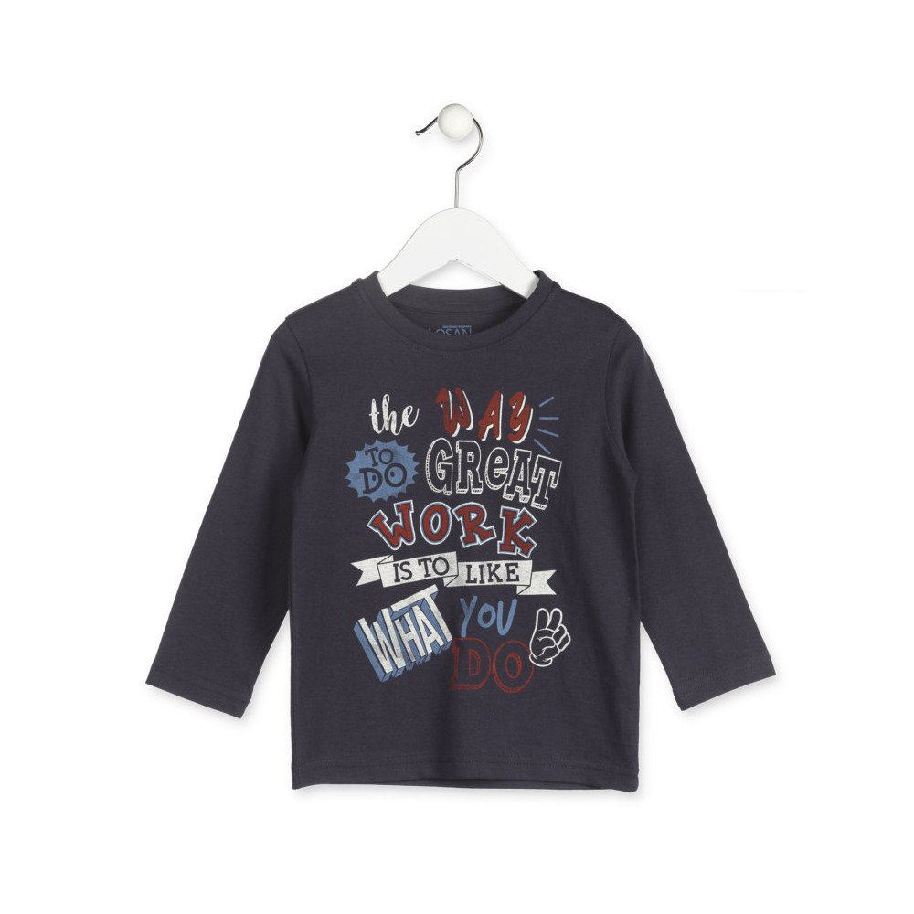 Camiseta Losan Kids niño What you do! infantil manga larga