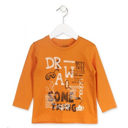 Camiseta Losan Kids niño Draw infantil manga larga