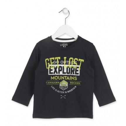 Camiseta Losan Kids niño Explore Mountains infantil manga larga