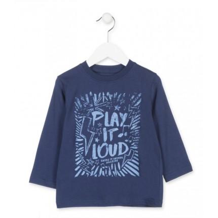 Camiseta Losan Kids niño Play it loud infantil manga larga