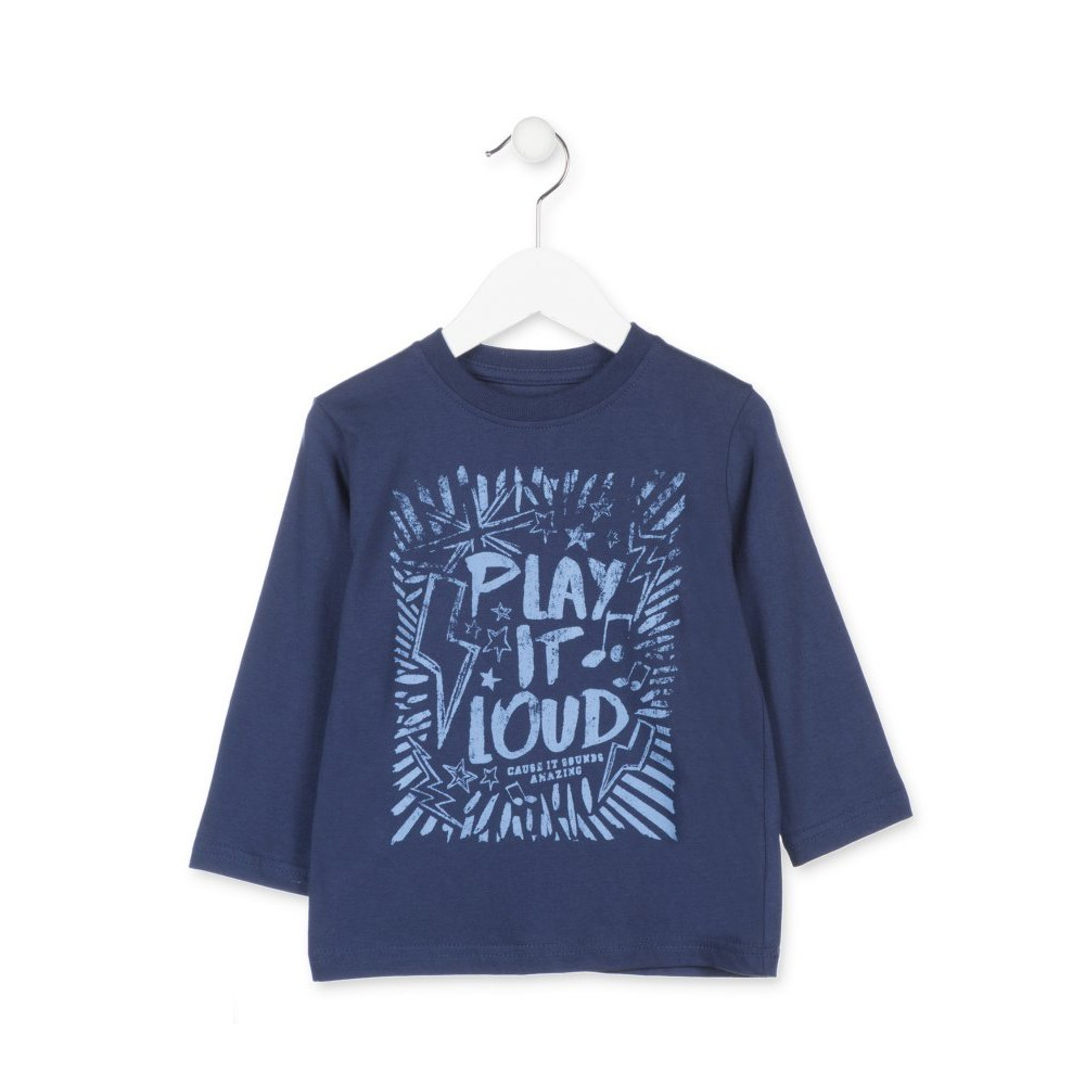 Camiseta Losan Kids niño Play it loud infantil manga larga