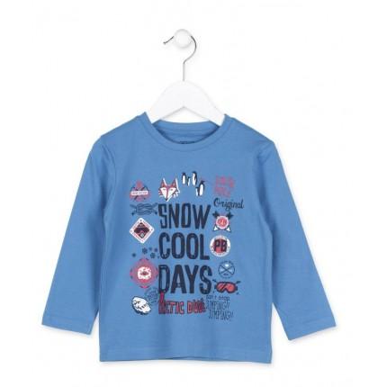 Camiseta Losan Kids niño Snow Cool Days infantil manga larga