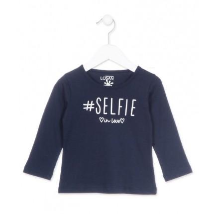 Camiseta Losan Kids niña Selfie infantil manga larga