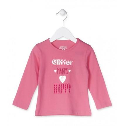 Camiseta Losan Kids niña HAPPY infantil manga larga