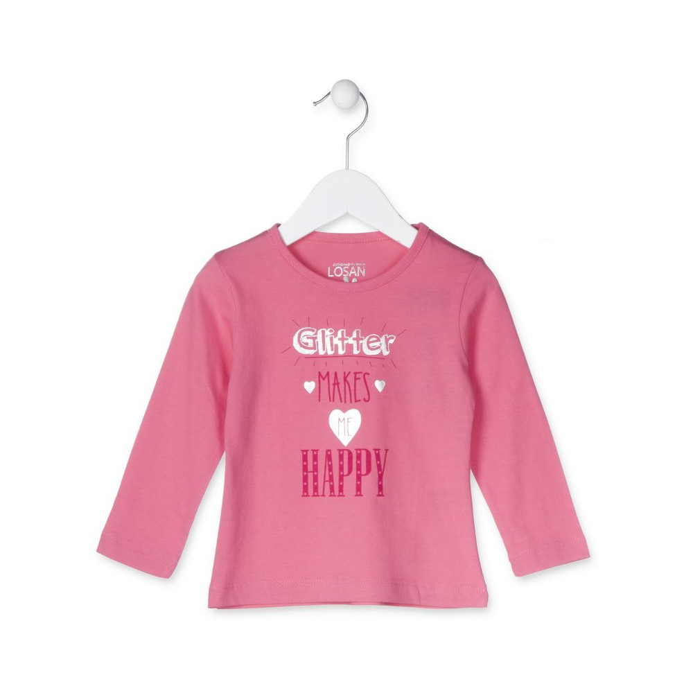 Camiseta Losan Kids niña HAPPY infantil manga larga