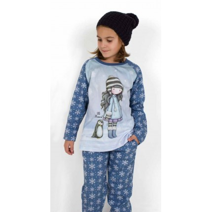 Pijama Gorjuss niña The Blizzard Santoro manga larga caja regalo