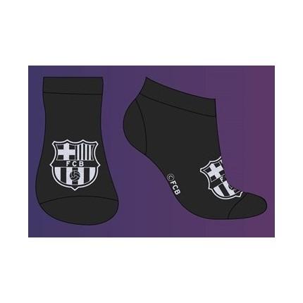 Negro Calcetines FCBarcelona cortos Escudo niño