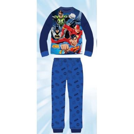 Pijama Liga de la Justicia niño infantil manga larga azul marino