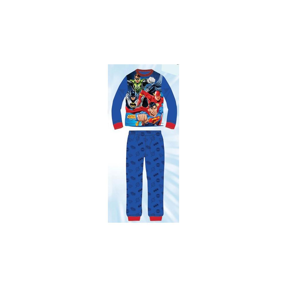 Pijama Liga de la Justicia niño infantil manga larga azul medio