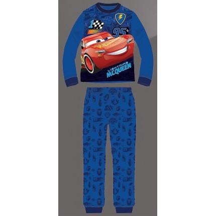 Pijama Cars niño Disney manga larga azul medio Rayo Mcqueen