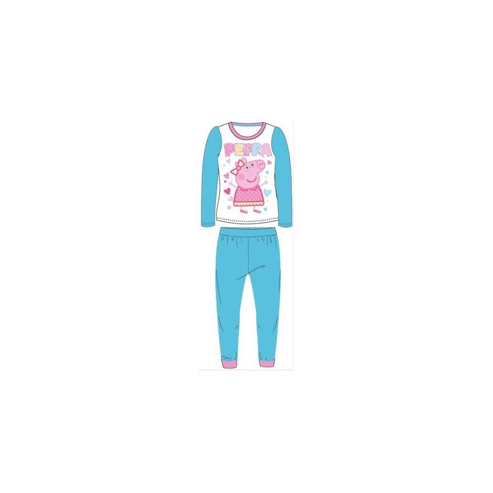 Pijama Peppa Pig niña manga larga Turquesa