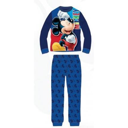 Pijama Mickey niño manga larga Azul