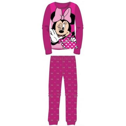 Pijama Minnie niña manga larga Fucsia
