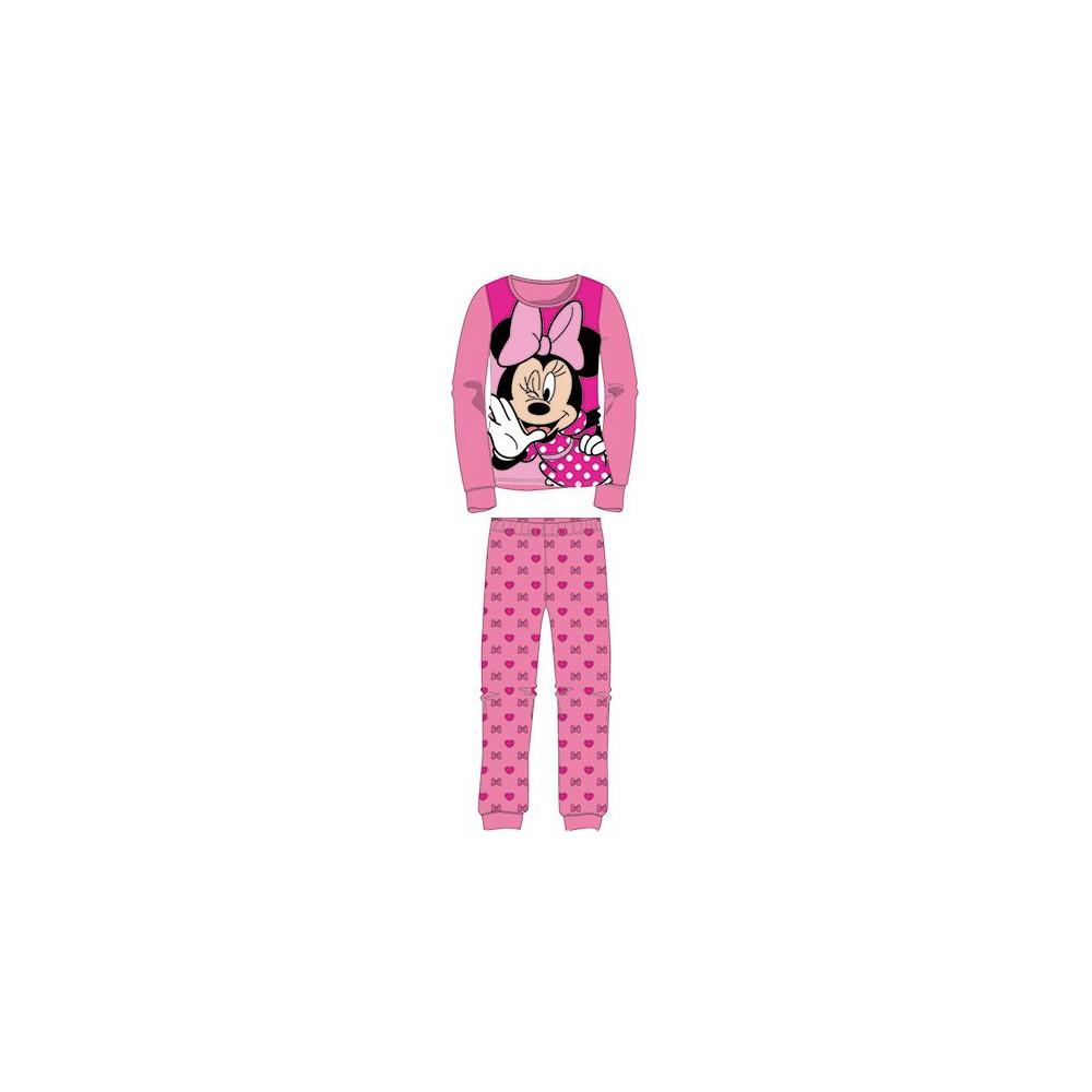 Pijama Minnie niña manga larga Rosa