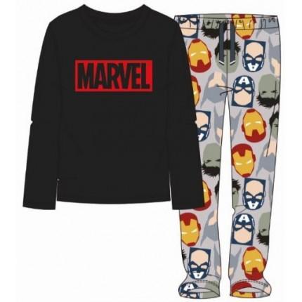 Pijama Marvel hombre manga larga