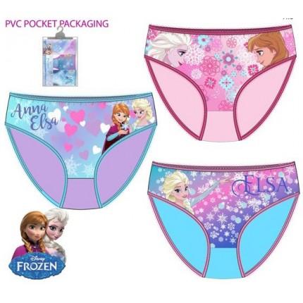 Pack de 3 Braguitas Frozen niña infantil