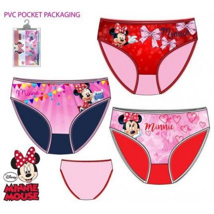 Pack de 3 Braguitas Minnie Disney niña infantil