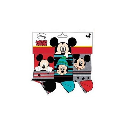 Calcetines Mickey Mouse niño Disney pack de 3 rojo