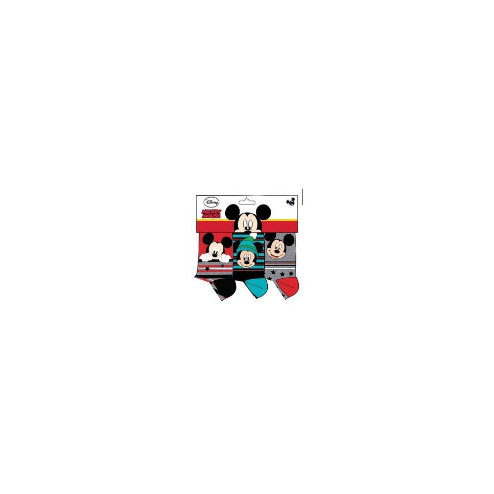 Calcetines Mickey Mouse niño Disney pack de 3 rojo