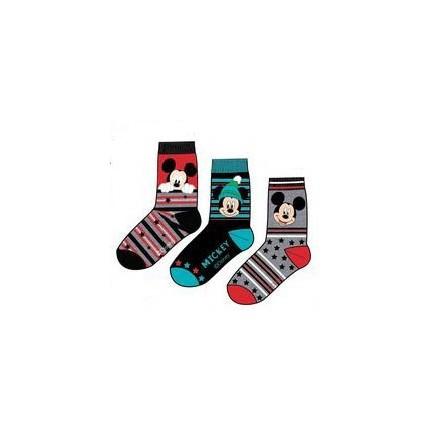 Detalle Calcetines Mickey Mouse niño Disney pack de 3 rojo