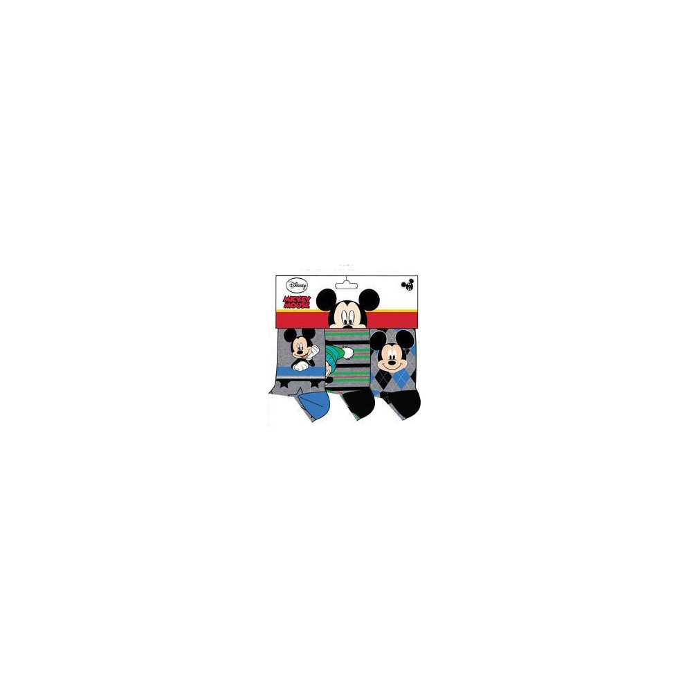 Calcetines Mickey Mouse niño Disney pack de 3 gris
