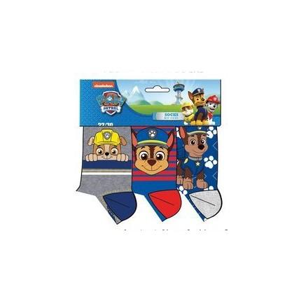 Calcetines Patrulla Canina niño Paw Patrol pack de 3 azules