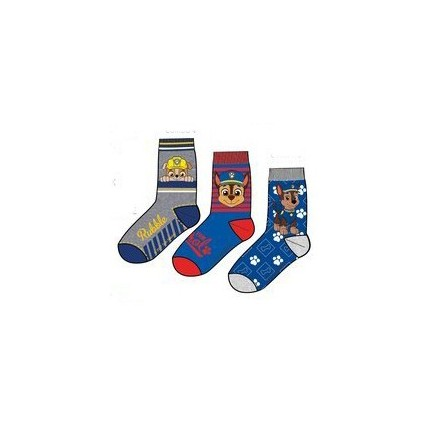 Detalle Calcetines Patrulla Canina niño Paw Patrol pack de 3 azules