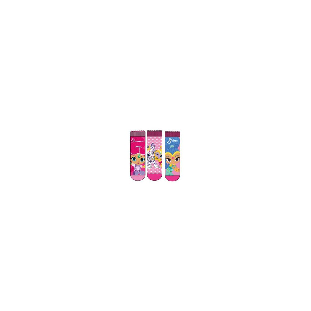 Calcetines Shimmer and Shine niña pack de 3 rosas