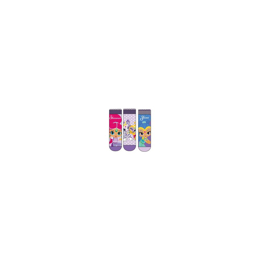 Calcetines Shimmer and Shine niña pack de 3 lila