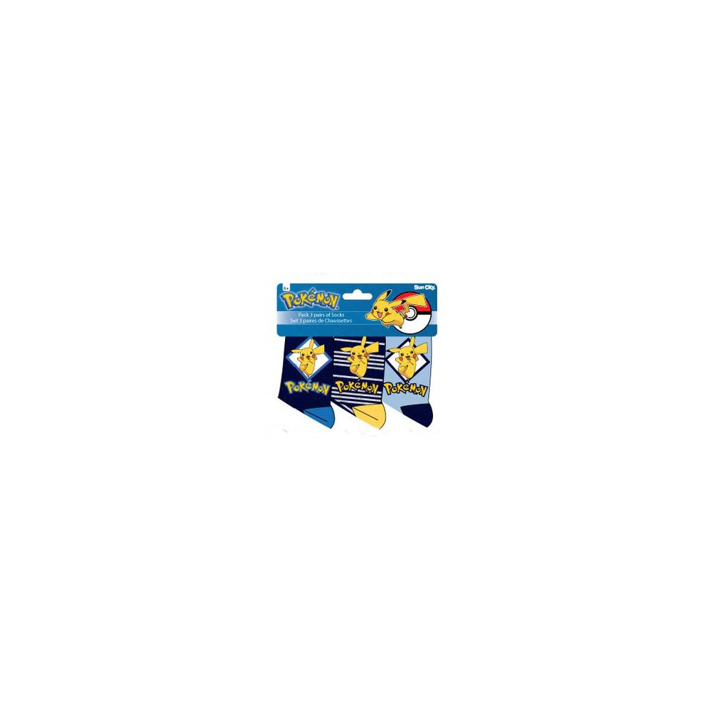 Calcetines Pokémon niño pack de 3 azules