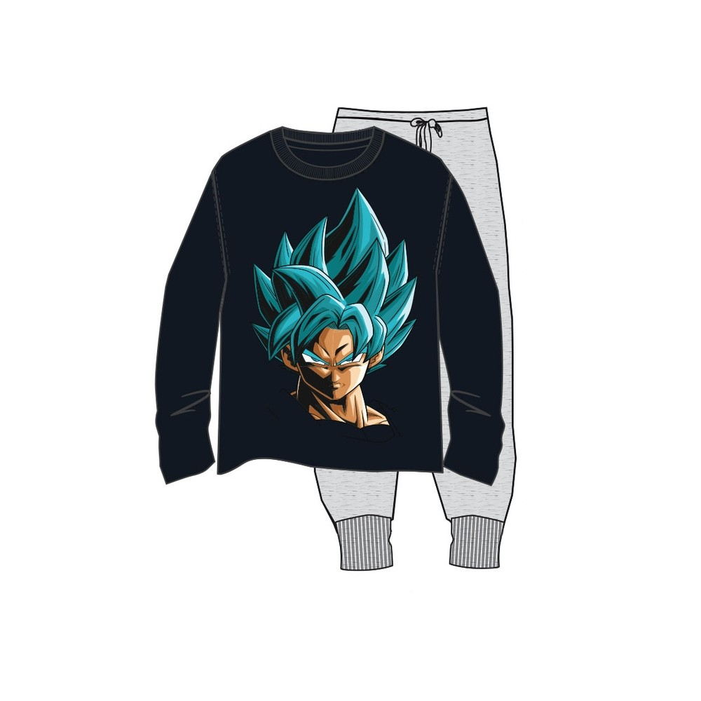 Pijama Dragon Ball Z hombre Son Goku manga larga