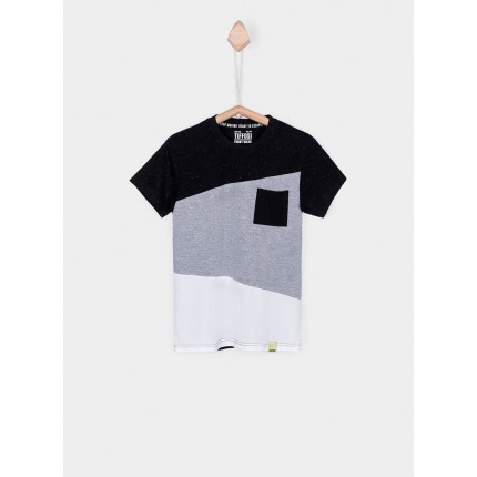 Camiseta Tiffosi Kids Keith niño Tricolor bolsillo manga corta