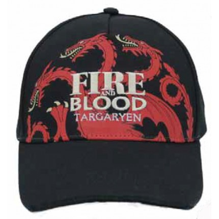 Gorra Juego de Tronos junior Targaryan belcro regulable Game of thrones