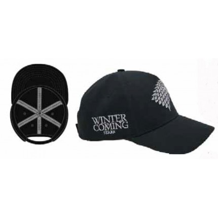 Detalle interior y lateral Gorra Juego de Tronos Junior Stark belcro regulable Garme of Thrones