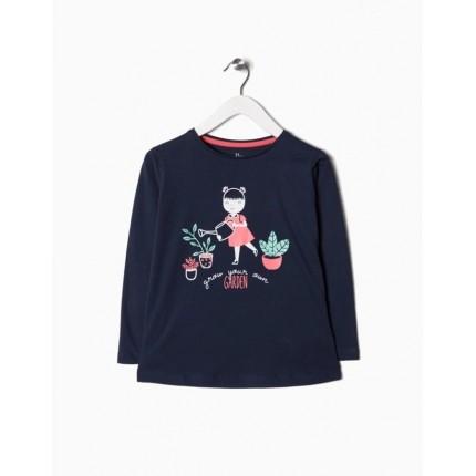 Camiseta Zippy niña Garden manga larga