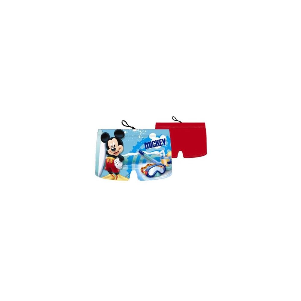 Rojo Bañador boxer Mickey niño Disney cordón