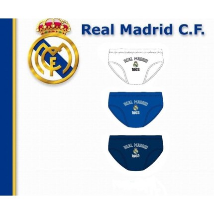Pack de 3 Slips Real Madrid niño infantil