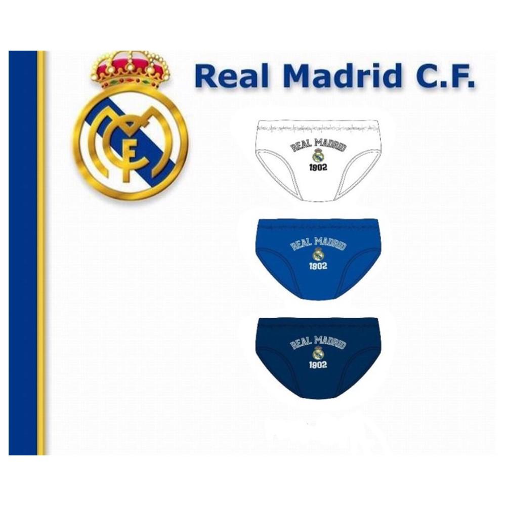 Pack de 3 Slips Real Madrid niño infantil