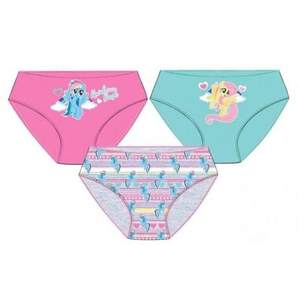 Pack de 3 Braguitas My Little Ponny niña infantil
