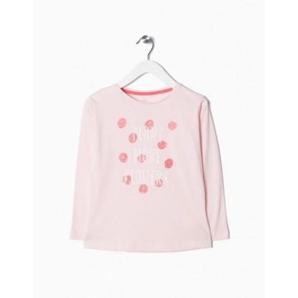 Camiseta Zippy Flowers niña manga larga