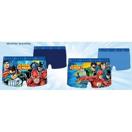 Pack de 2 Boxers La liga de la Justicia niño goma