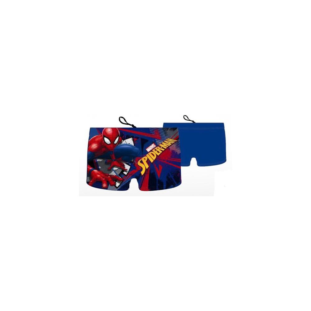 Azul medio Bañador boxer Spider-man niño infantil cordón