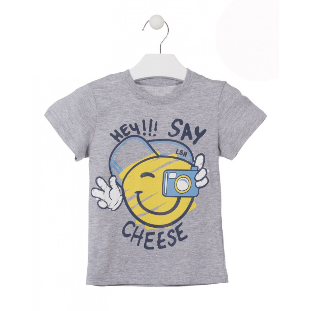 Camiseta Losan Kids niño infantil Say Cheese manga corta