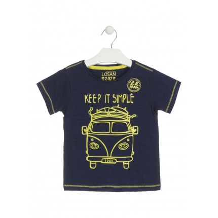Camiseta Losan Kids niño infantil Keep it simple manga corta